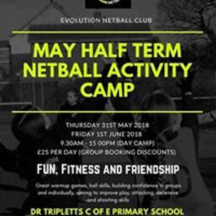 Evolution Netball club - May Half term camp