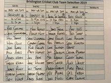Brislington CC Team Selection May 4th.2019