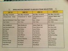 Brislington CC Team Selection May 11th 2019