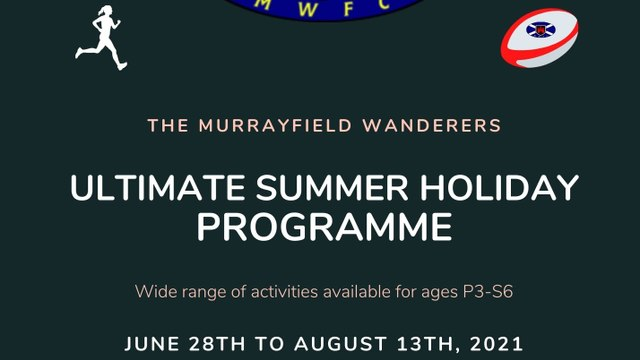 Summer Rugby Programme 2021! Book NOW!