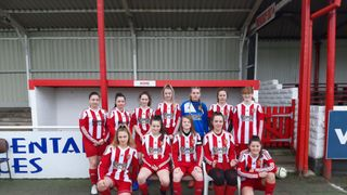 SFC Girls U16's in Cup Final action on 27th April.
