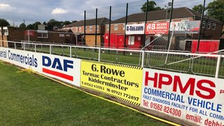 Pitch-side perimeter advertising board spaces AVAILABLE!
