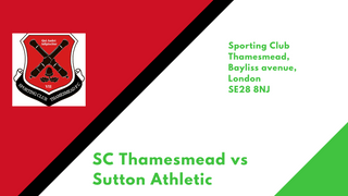 Firsts travel to SC Thamesmead in the FA Vase