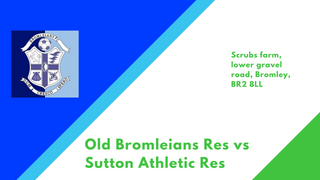 Reserves face Old Bromleians Reserves
