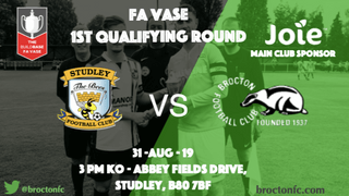 MATCH PREVIEW: Road to Wembley starts at Studley