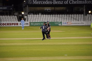 Seconds after the winning moment of the National T20 final