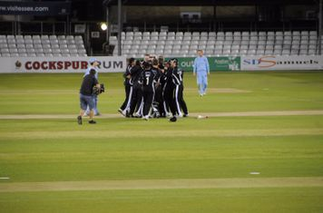 The team after winning the National T20 final