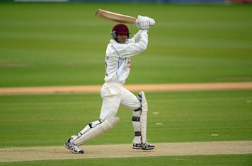 Ahmed batting in the National Knockout 2013 final at Durham