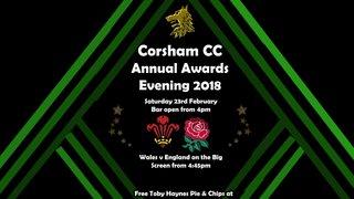 Corsham CC Awards for 2018 season