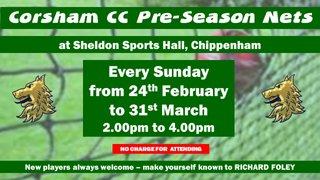 Pre-Season Net practice starts on Sunday (24th Feb)