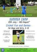 Reminder: Summer Holiday Cricket Camp