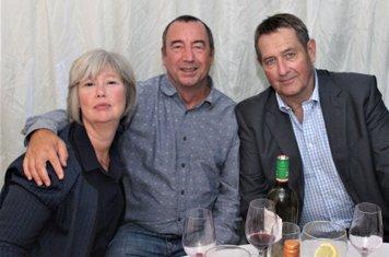 Stella and Mark Kington with Graham Gooch