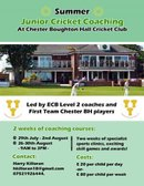 Junior summer coaching 29 July - 2 August & 26-30 August BOOK NOW