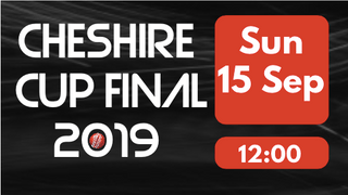 Cheshire Cup Final - THIS SUNDAY