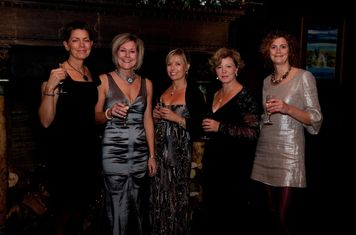 The ball committee from LHS Caroline Jordan, Heather Mullin, Bonnie Emmett, Christine Atkinson and Helen Beville