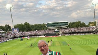 The President at Lords T20 resplendant in the new ECC Blazer