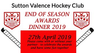End of Season Dinner  -  27th April  2019