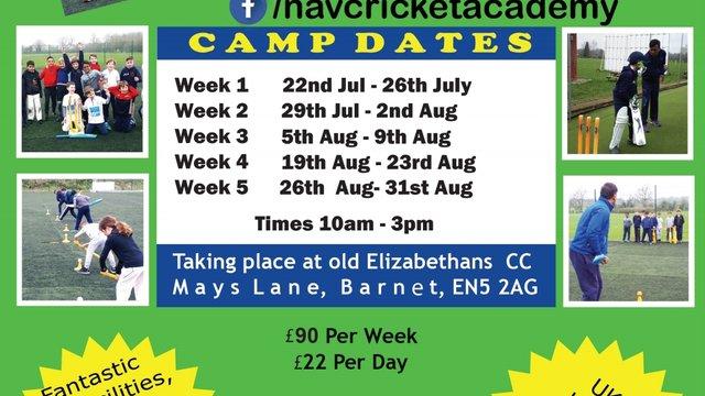 Nav's Summer Cricket Camps