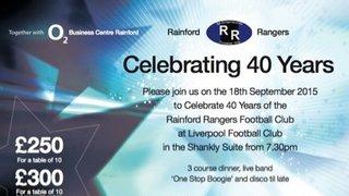 40th Celebrations Postponed