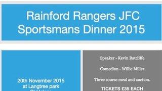 Rainford Rangers 2015 Sportsmans Dinner