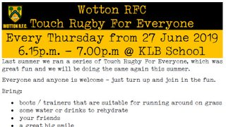 Touch Rugby For Everyone