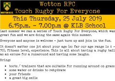 Latest Touch Rugby For Everyone