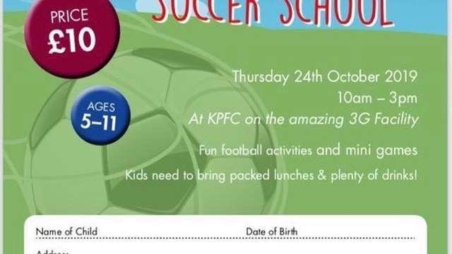 October Soccer School