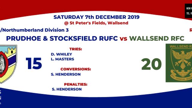 Wallsend 20 - 15 Prudhoe and Stocksfield