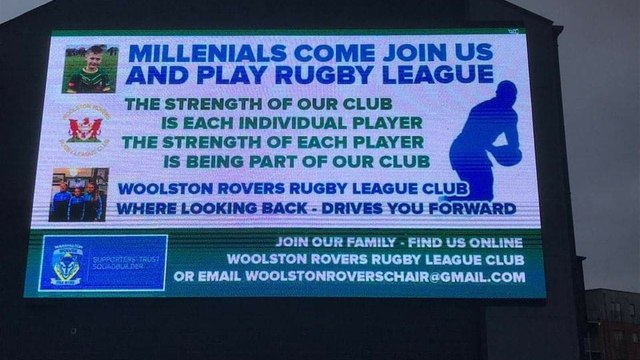 THE SIGN OF OUR TIMES - WOOLSTON ROVERS