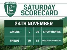 Saturday Scorecard - 24th November