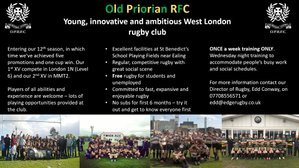 Pre-season training on Ealing Common- new players welcome!