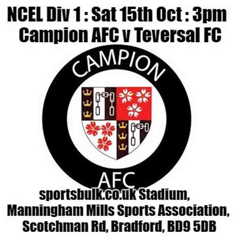 20161015 - Campion AFC v Teversal FC
