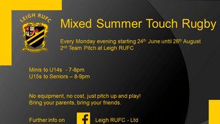 Summer Mixed Touch Rugby @LeighRUFC