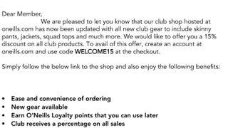 The Leigh RUFC club shop is now open.