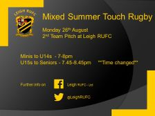 Summer Touch on Bank Holiday Monday.