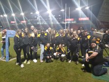 Leigh RUFC girls and coaches celebrate International Women's Day