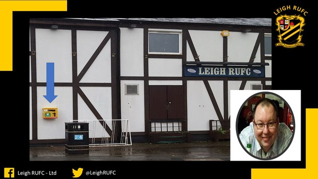 Accessible life-saving defibrillator installed at Leigh RUFC