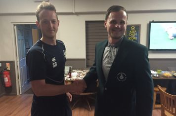 Tom Grover presented player of the week for his 4-19 and 29 v's Mill Hill 3's
