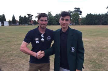 Jacket Presented to Joe Duke for his 5 wicket haul v's Tewin 2nd XI