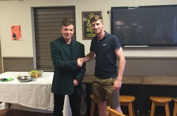 Tom Fryers presented Player of the week for his 88 v's Luton Town & Indians