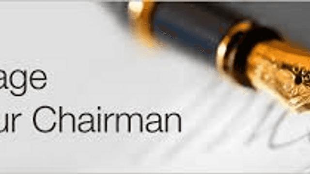 Chairman's message - November 2019