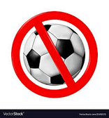 Polite notice - no footballs!