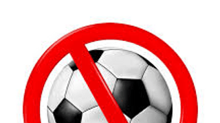 Polite notice - no footballs!