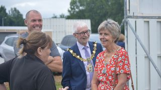 The Mayor was in 'town' to visit UCC