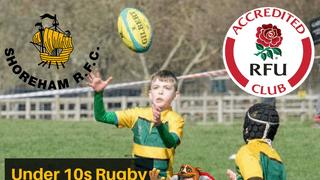 U10s Rugby Training at Buckingham Park