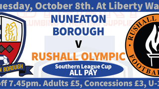 NEXT GAME - Boro v Rushall Olympic - S.L.Cup
