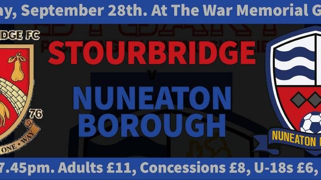 NEXT GAME - Stourbridge v Boro