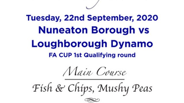 Boro v Loughborough Dynamo - FA Cup 1QR