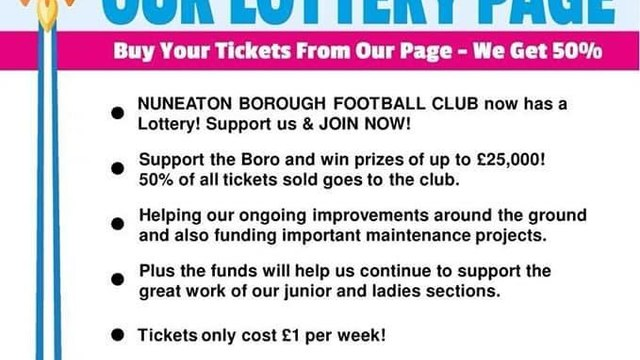 Help the Boro and your Town - Join the Boro Lottery