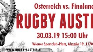 """Rugby Europe """"Conference 2 North"""" Österreich trifft auf Finnland !"""